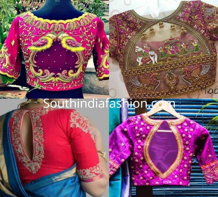 traditional blouse designs back design