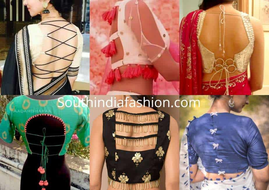 10 Unique Saree Blouse Back Neck Designs Blouse Designs Back Side