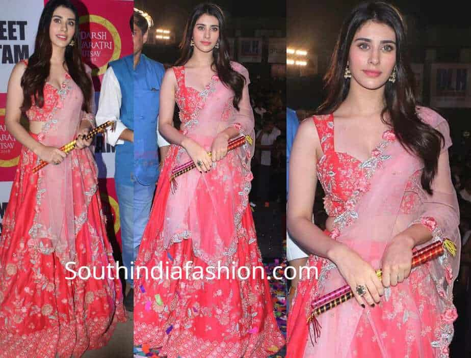 warina hussain red lehenga kalki fashion