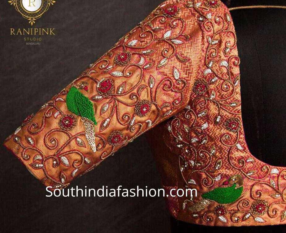 maggam work pattu saree blouse designs