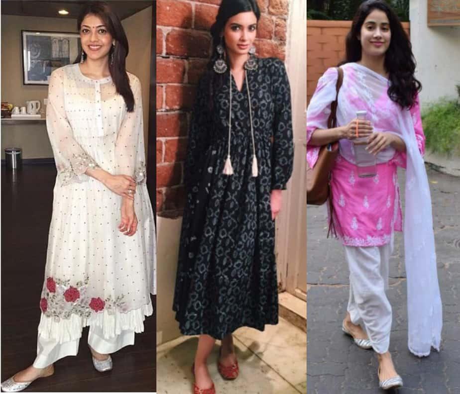 Juttis with salwar suit
