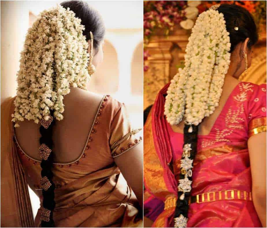 Open Hair Gajra style
