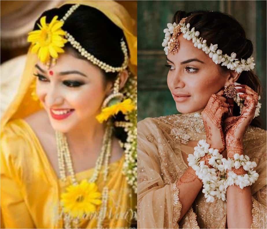 Matha patti gajra style