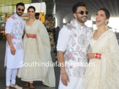 deepika and ranveer in sabyasachi after marriage