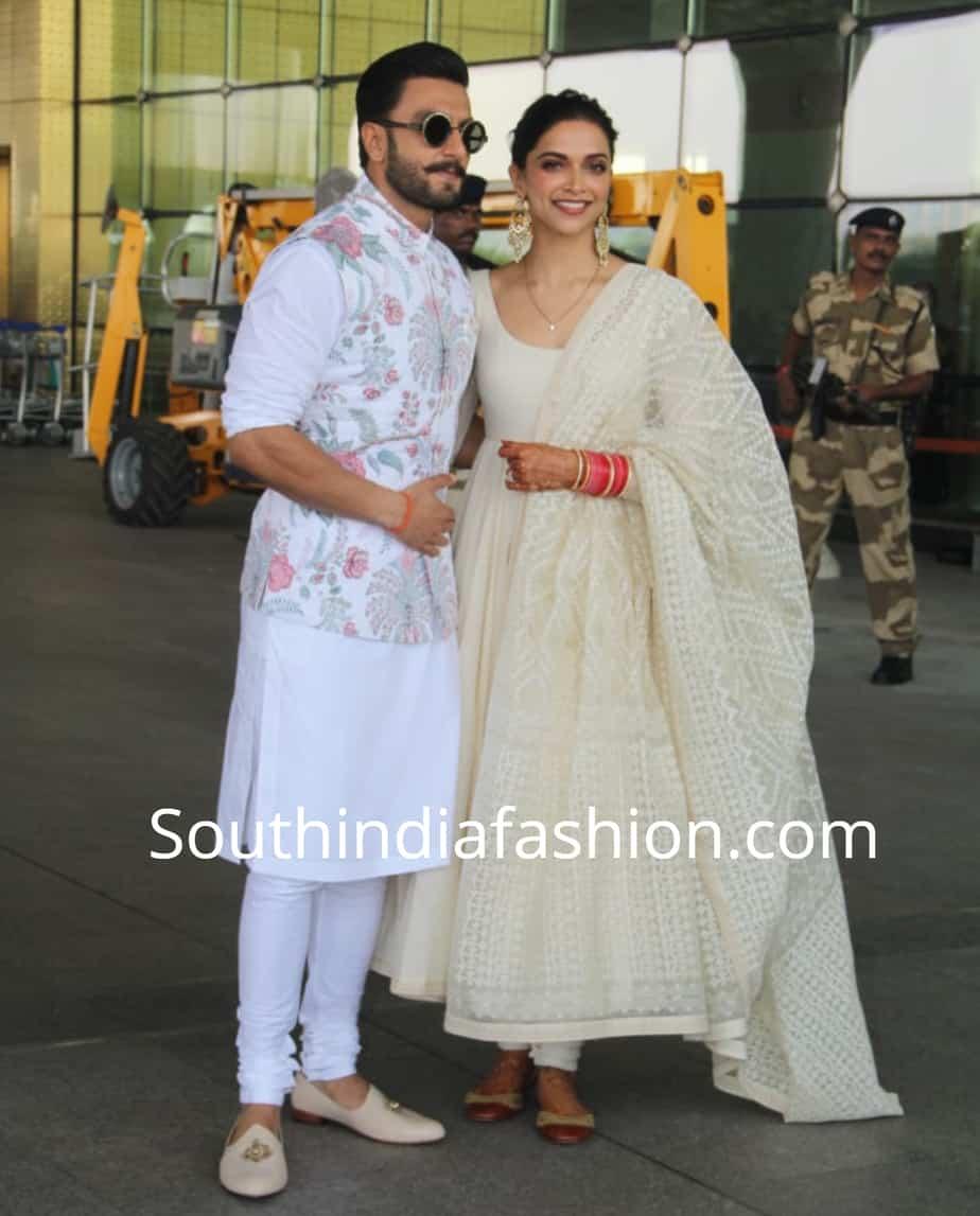 Deepika and Ranveer in Sabyasachi! - South India Fashion