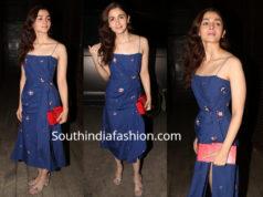 alia bhatt blue dress priyanka chopra nick jonas dinner
