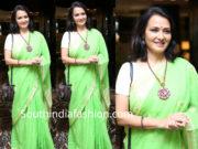amala akkineni green cotton saree