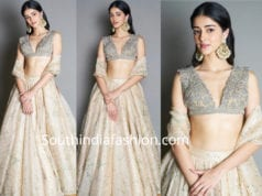 ananya pandey in sabyasachi lehenga for diwali party