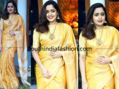 ananya yellow saree rajith menon wedding