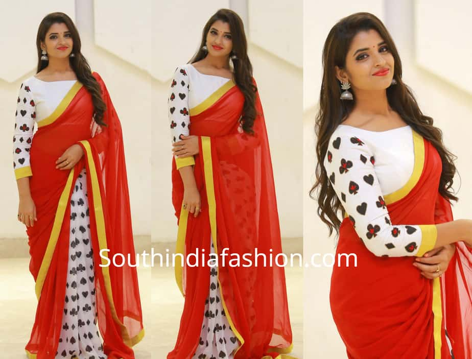 anchor syamala red saree rangu pre release event
