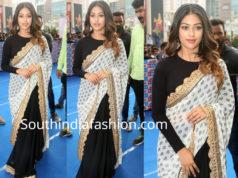 anu emmanuel half and half saree