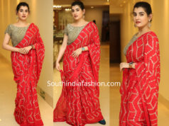 archana sasthry red saree