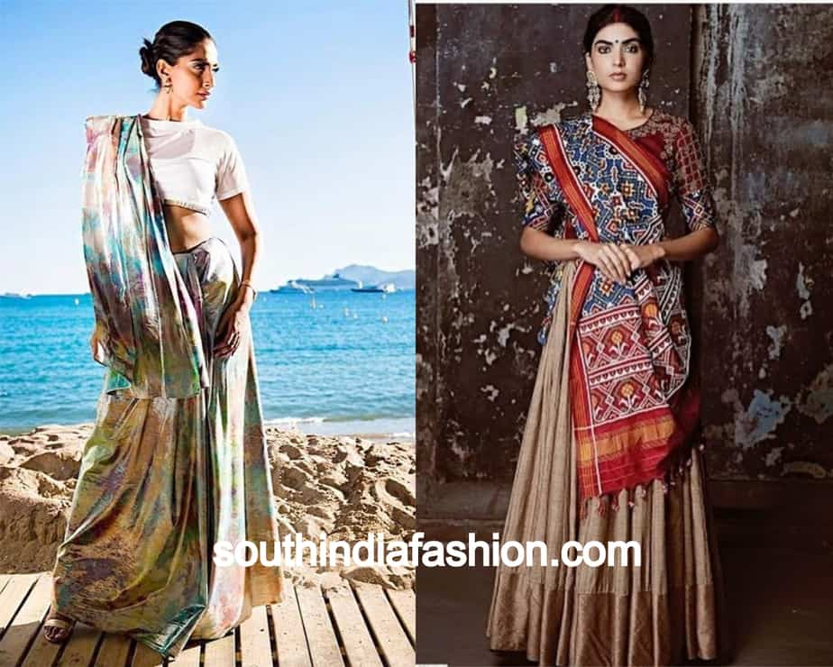 back to front pallu