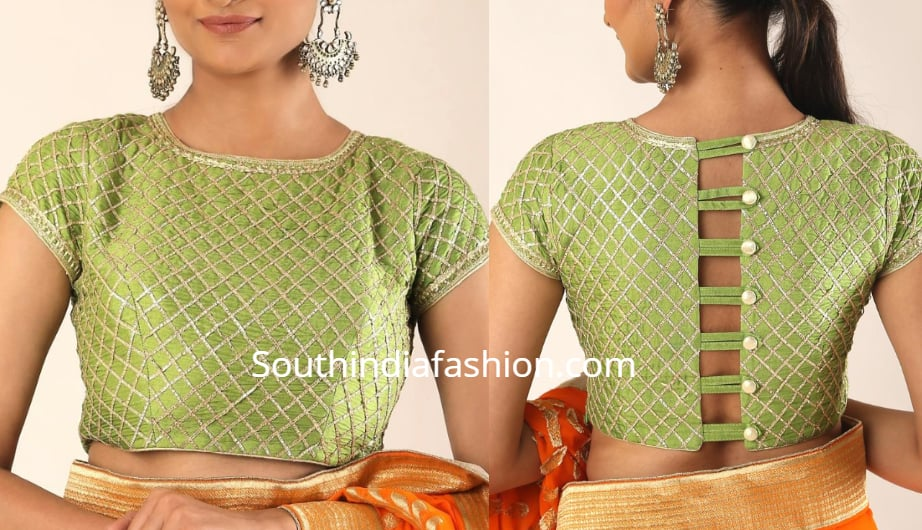 blouse neck designs 2019