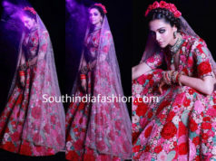 deepika sabyasachi floral lehenga post wedding party