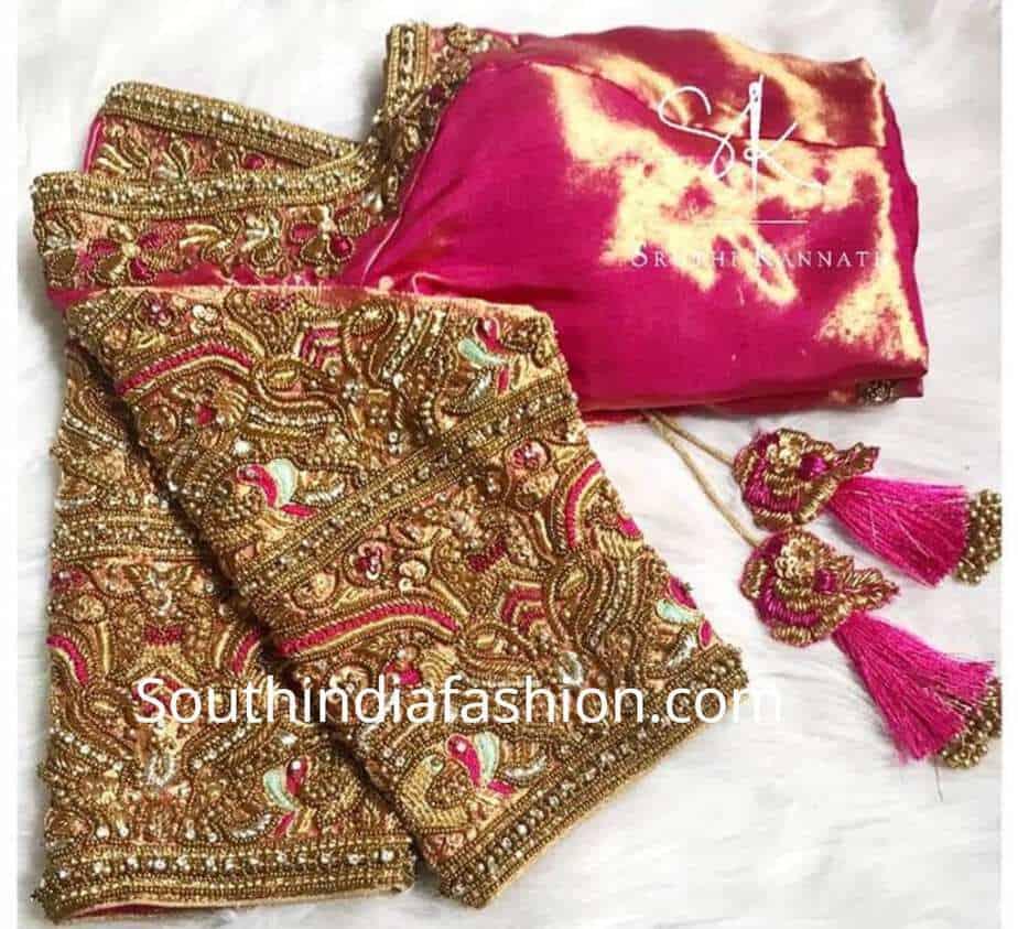 874762b730520 Heavy Work Blouse Designs For Pattu Sarees – South India Fashion