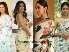 floral sarees that are beautiful