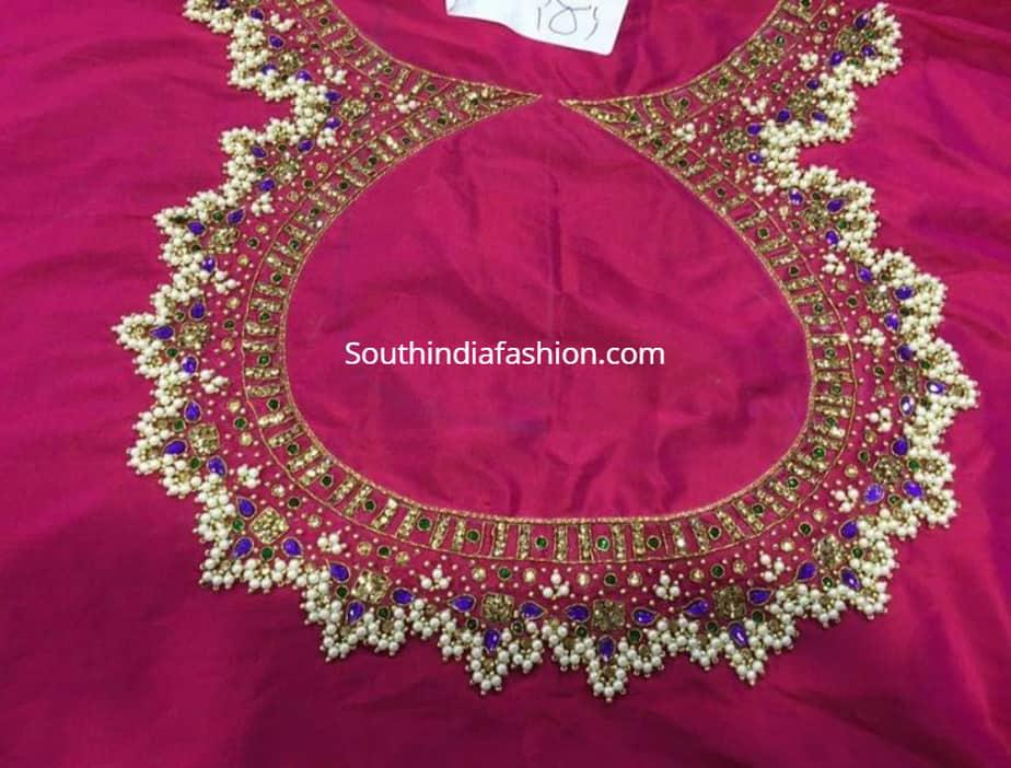 guttapusalu pearl blouse designs