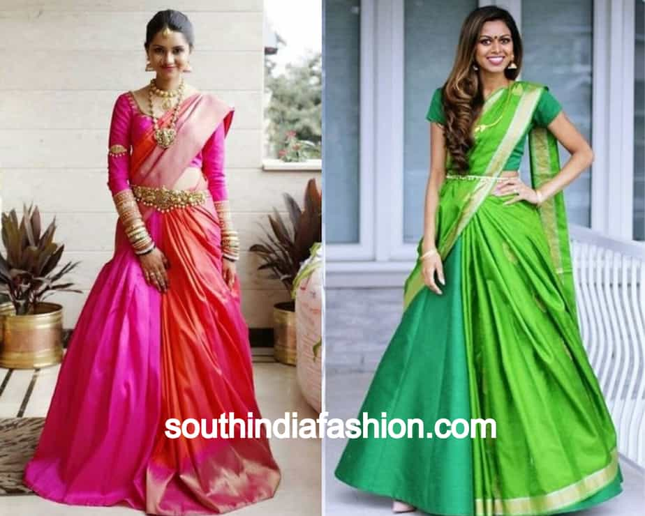 half side saree draping