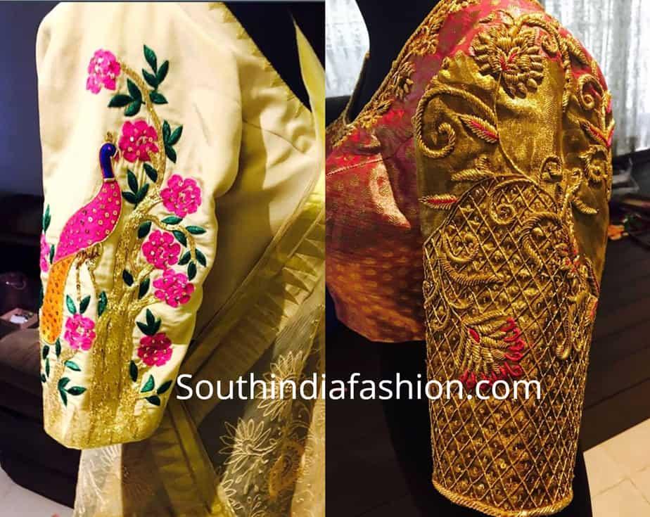 maggam blouse patterns for silk sarees by deepthi balagiri