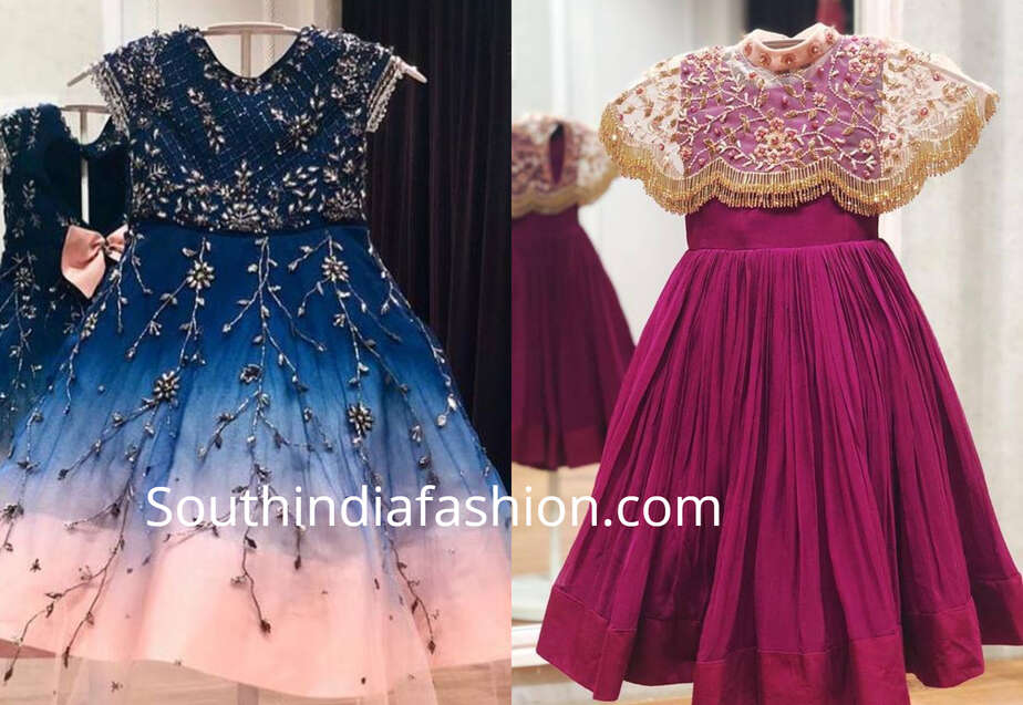 Party Wear Designer Dresses For Girls South India Fashion