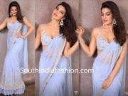 jacqueline fernandez lavender saree shahrukh khan diwali party