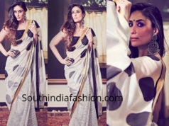 kareena kapoor in black and white masaba saree