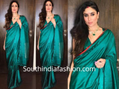 kareena kapoor green raw mango saree diwali party 2018