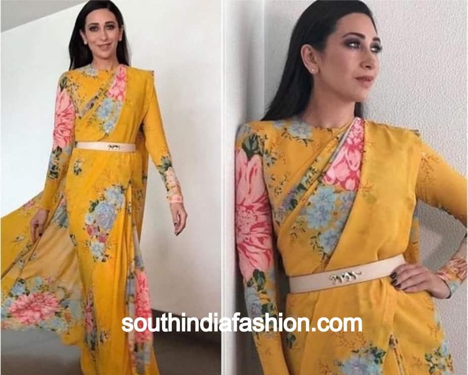 karishma kapoor floral saree