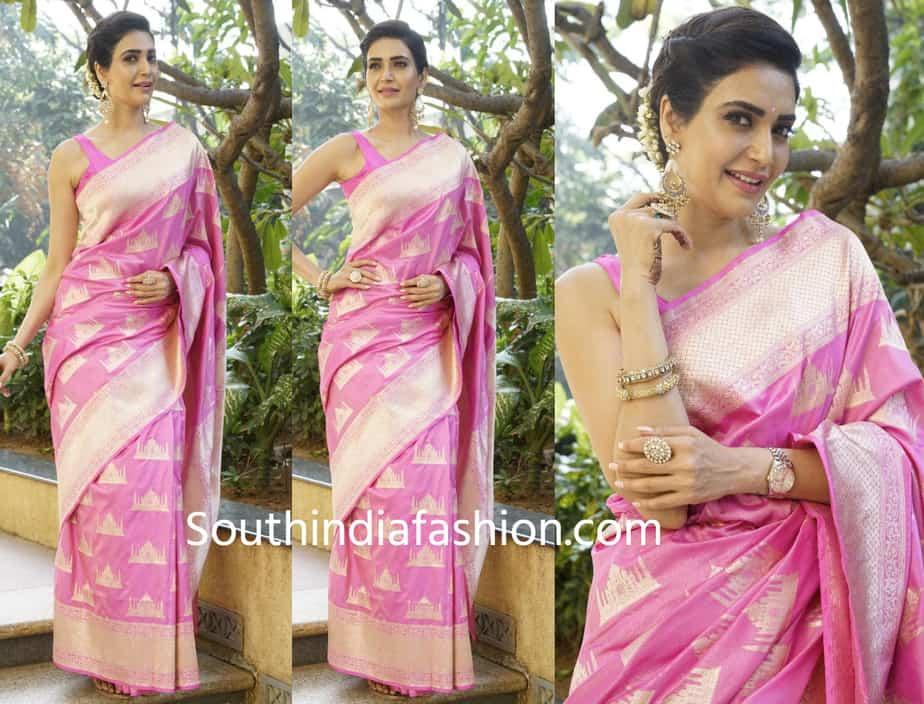 karishma tanna silk saree