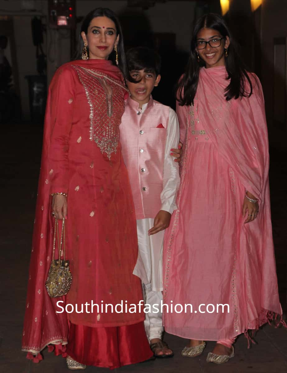 karisma kapoor family at karan johar diwali party