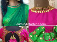 simple kasu work blouse designs
