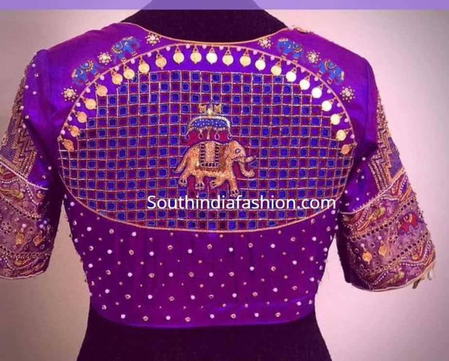 simple kasu work blouse designs