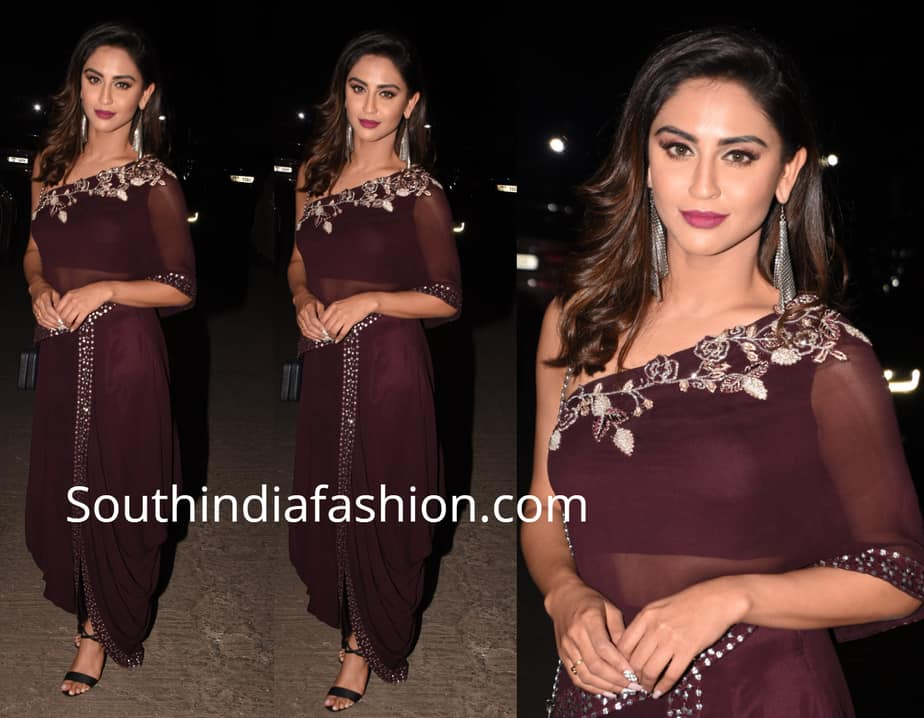 krystle dsouza dhoti dress arpita khan sharma diwali party