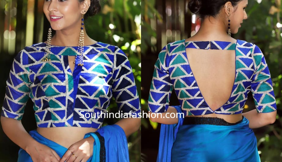Latest Blouse Front And Back Side Neck Designs Stylish Blouse Designs
