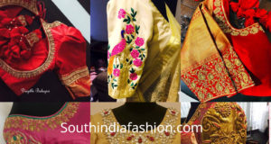 maggam blouse patterns for silk sarees