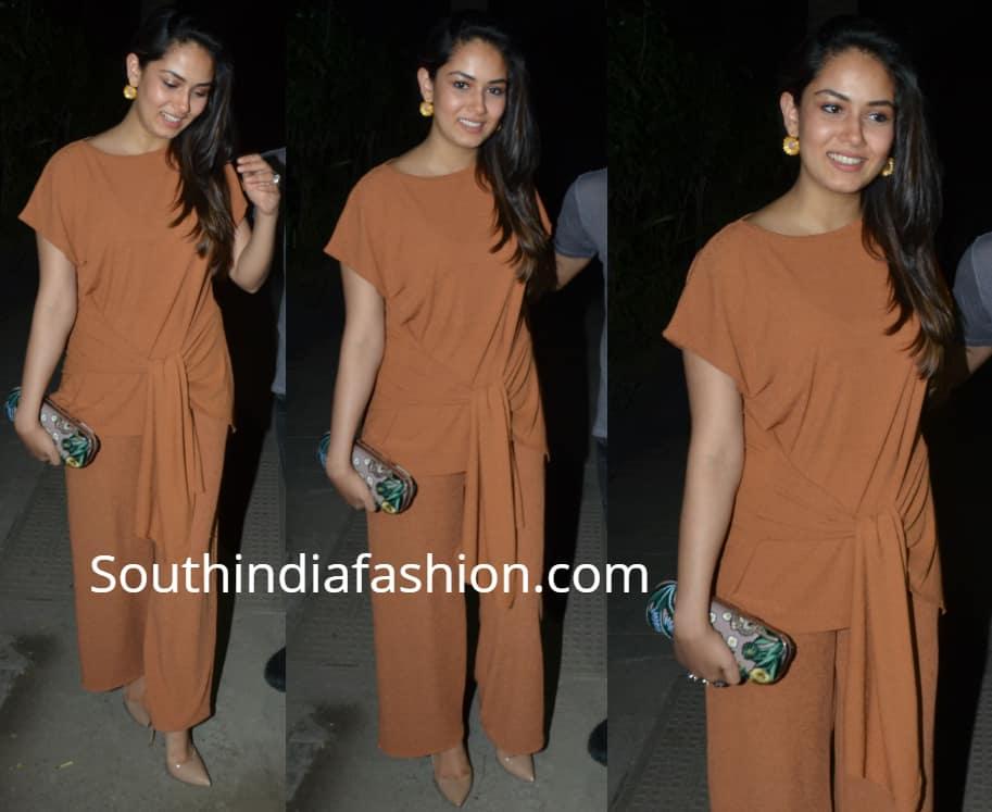 mira kapoor brown dress