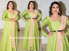 nandini rai green anarkali at rangu pre release event