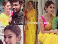 nayanthara yellow saree diwali