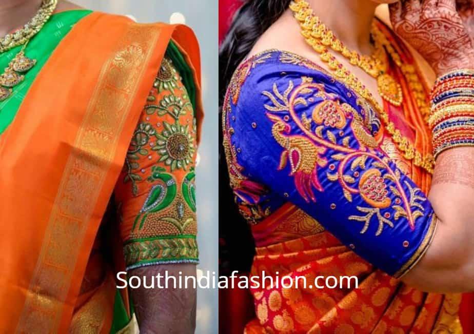 peacock maggam work blouse designs