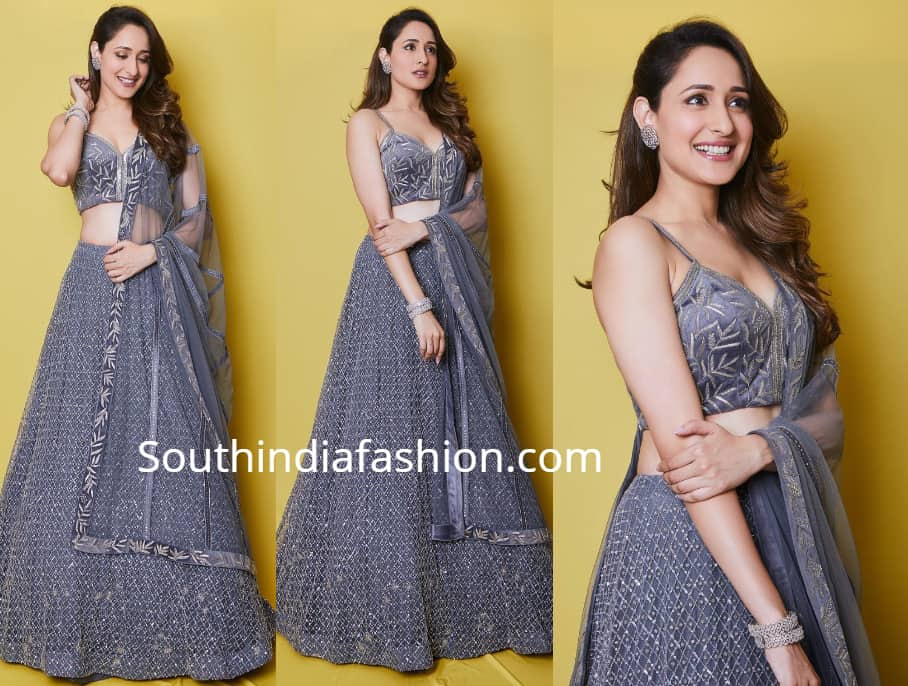 736d46d2a51cdc Pragya Jaiswal in a grey lehenga at her Cousin s wedding – South ...