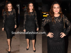 preity zinta black lace dress
