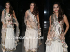 preity zinta kurta lehenga at karan johar diwali party