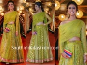 priya varrier green lehenga crop top
