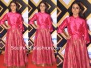 rasika dugal in payal khandwala skirt with shirt mami closing ceremony