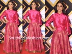 rasika dugal in payal khandwala skirt with shirt mami closing ceremony