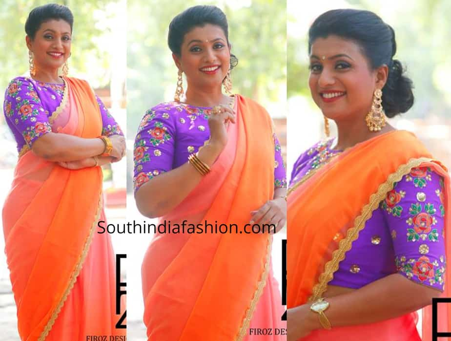 roja palin saree designer blouse