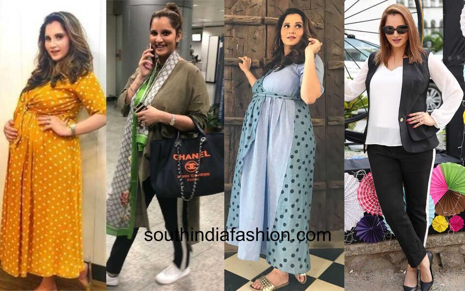 sania mirza pregnancy fashion