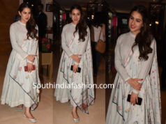 sara ali khan anarkali suit kedrainath promotions
