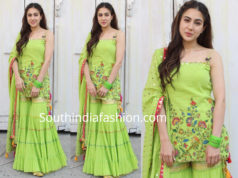 sara ali khan green sharara kedarnath promotions